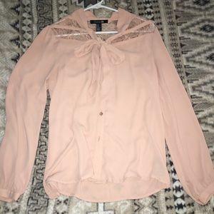 If JT pink button up shirt